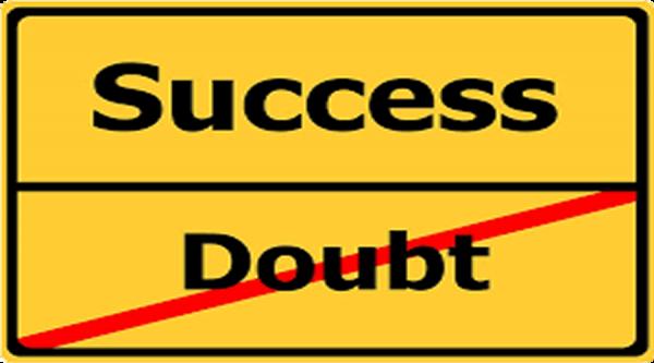 foto succes of twijfel
